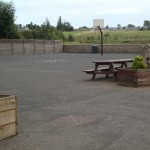 Playground at the rear of the school