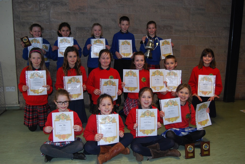 A group went to the annual Burns competition in Hawick. There was a mixture of recitals, singing and instrumental playing. All the pupils performed brilliantly, with 2 overall winners and several 2nd and 3rd places. Well done to all those who represented the school.