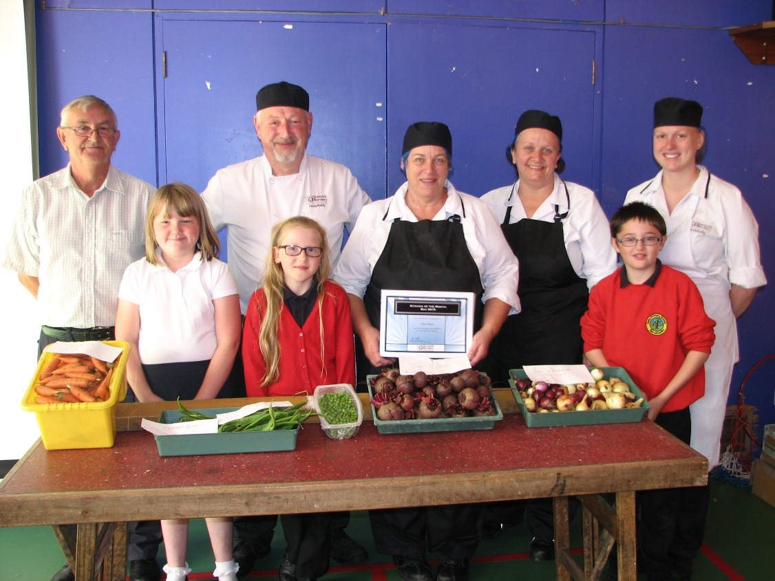 "Our canteen has been awarded ""Canteen of the month"" by Scottish Borders Council, so a big ""Well done"" to them. Mr Bates has been very busy in the garden, helping the pupils grow a large variety of vegetables, which the canteen are going to use in school meals. A massive ""Thank you"" to him for all of his hard work."