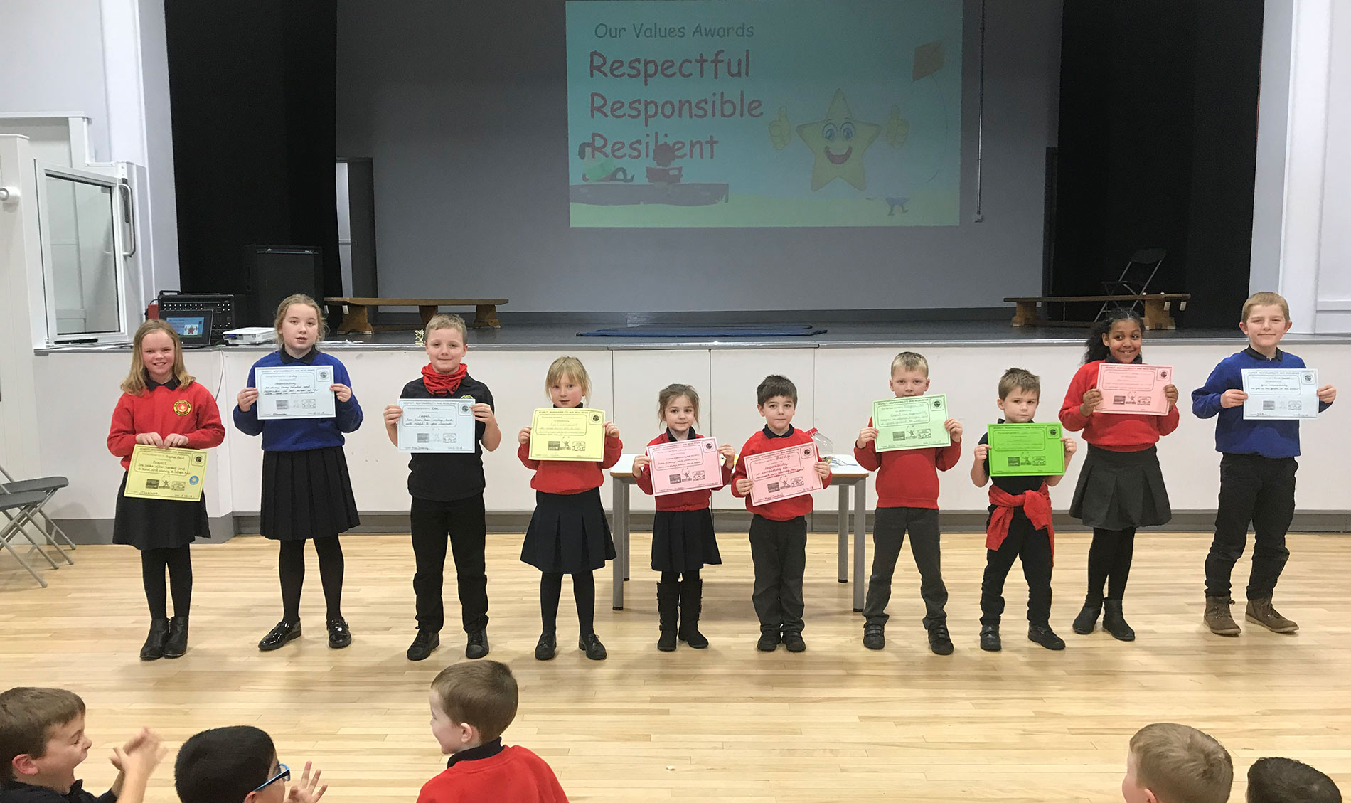Award winners at Duns primary school